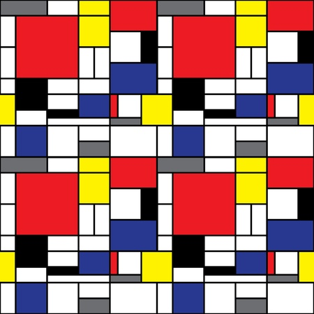 Seamless Mondrian Background Vector