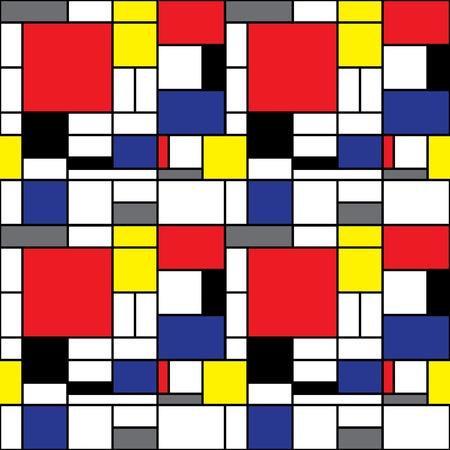 bauhaus: Seamless Mondrian Background Illustration