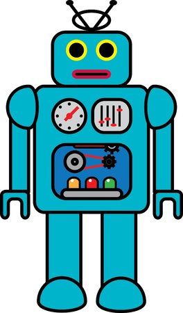 Funky retro robot Stock Vector - 18314450