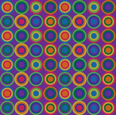 seventies: Warm circular patter
