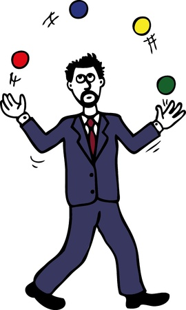 hands in the air: Juggling man