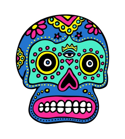 mexican culture: Mexican skull Illustration