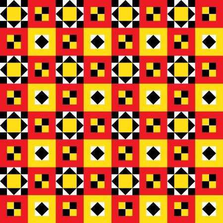 uganda: Ethnic Quilt Pattern