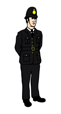 police line: English Policeman
