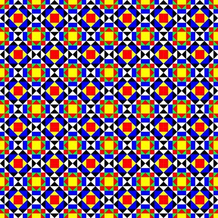 Colorful tiles pattern Illustration