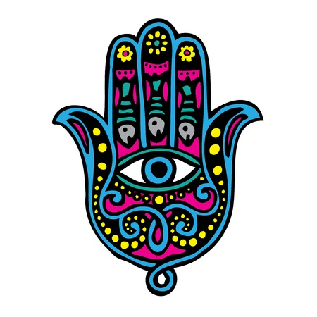 Hand of fatima (Khamsa) Vector