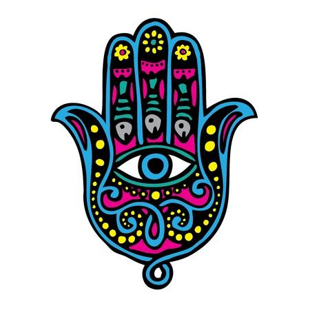 talismán: Mano de Fátima (Khamsa) Vectores