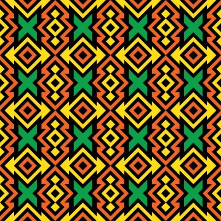 Seamless African Pattern Illustration