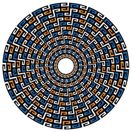 Circular geometric Maya background Illustration