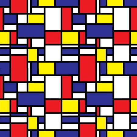 modernism: Retro seamless grid pattern