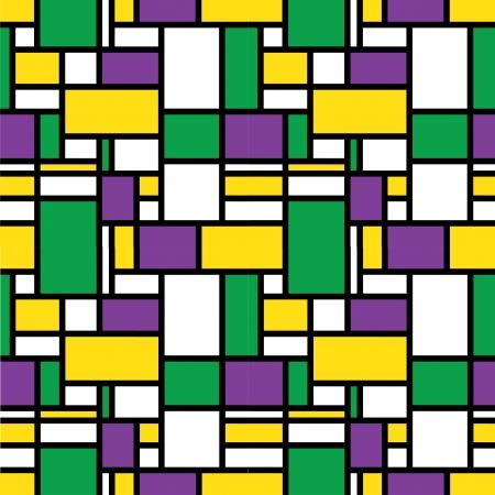 bauhaus: Colorful retro grid pattern Illustration