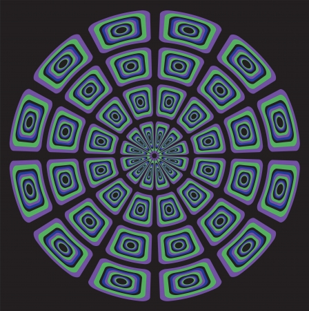 hypnotizing: Circular Psychedelic Background