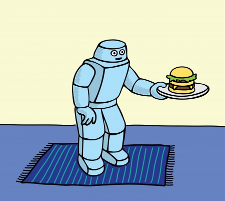 Robot helper Stock Vector - 18335402