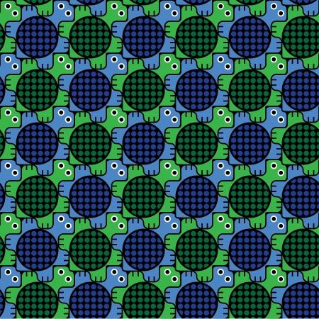 Turtles Pattern Inspired by M. C. Escher