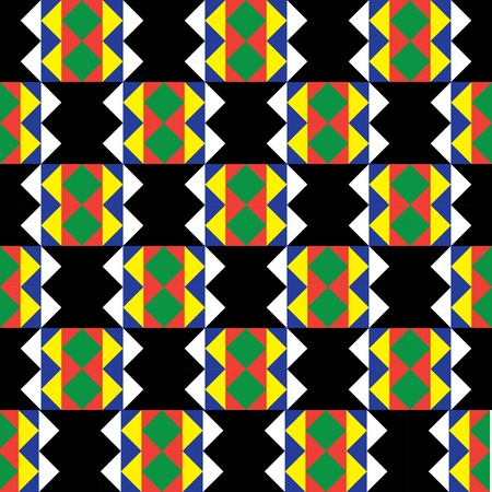 Seamless Zulu Pattern Vector