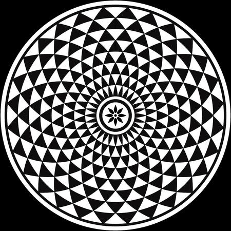 rosette: Blanco y Negro Fractal Design Circular