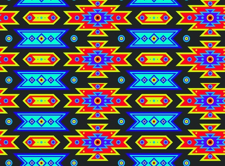pueblo: Seamless Mexican pattern