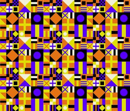 Retro Colors Geometric Pattern