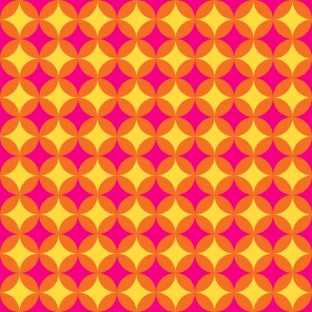 Circular retro pattern