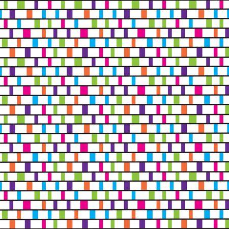 timeless: Colorful tiles pattern Illustration