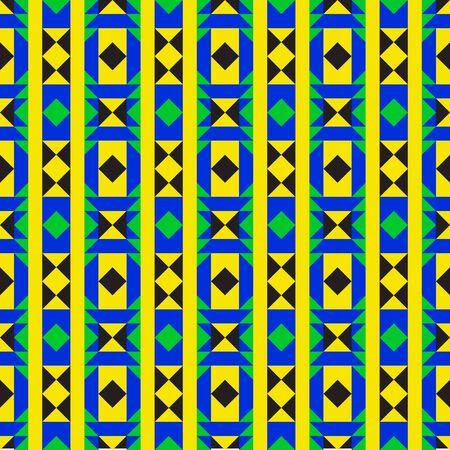 angola: Colorful geometric fabric design