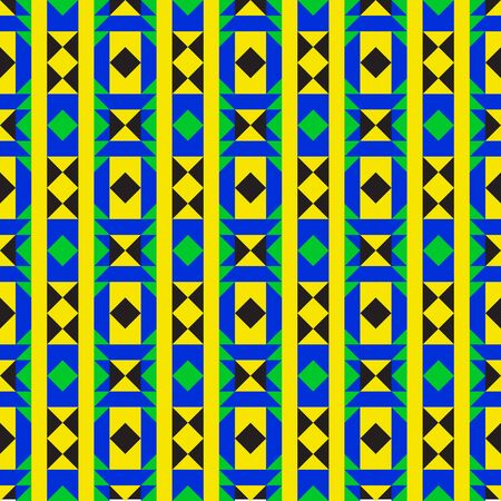 creole: Colorful geometric fabric design