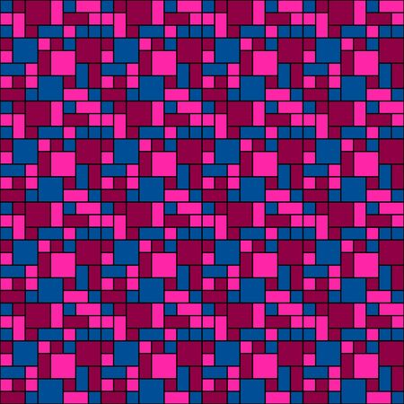 mondrian: Abstract pink grid pattern
