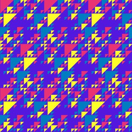 nu: Vibrant colorful triangles pattern Illustration
