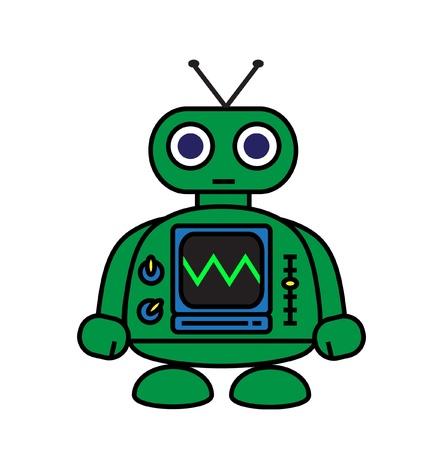 nut and bolt: Mini Robot Illustration