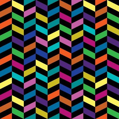 Colorful Retro Fashion Pattern