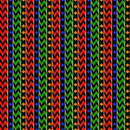 African Stripes Background Vector