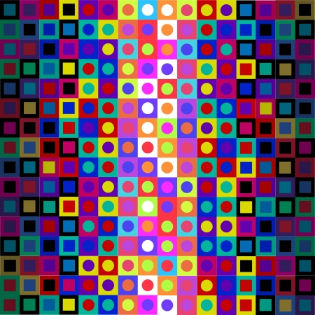 Retro Modern Sixties Op Art Background Vector