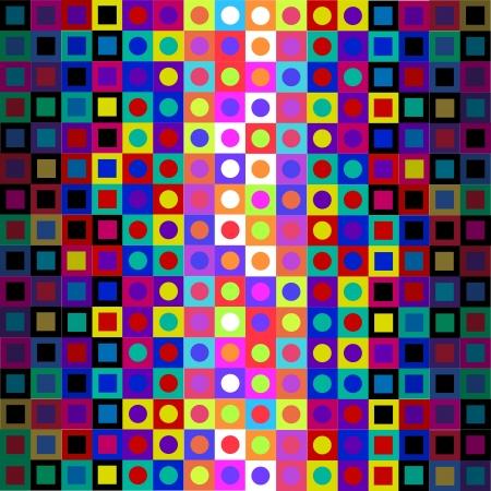 Retro Modern Sixties Op Art Background Illustration