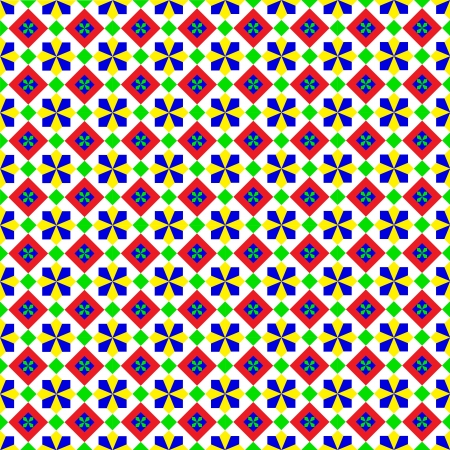 Summery Geometric Pattern Stock Vector - 19473168
