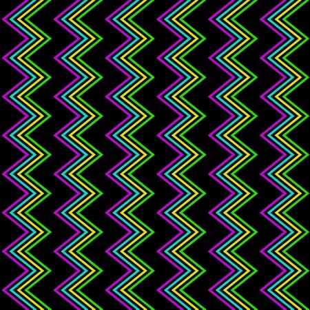 Funky Zig Zag Pattern Stock Vector - 19473163