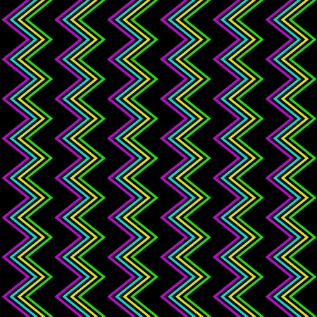 90s: Funky Zig Zag Pattern Illustration