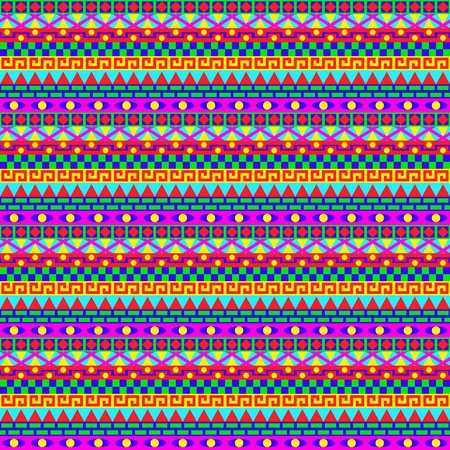 Colorful Geometric Stripes Pattern