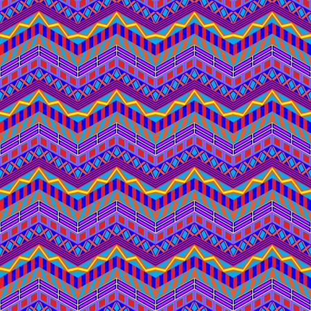 Purple Zig Zag Stripes Pattern Stock Vector - 19473160