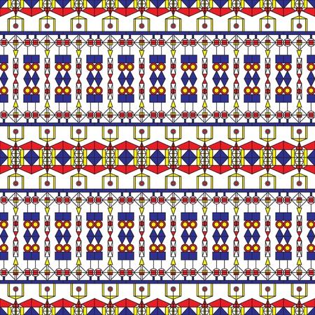 constructivism: Modern folk art pattern