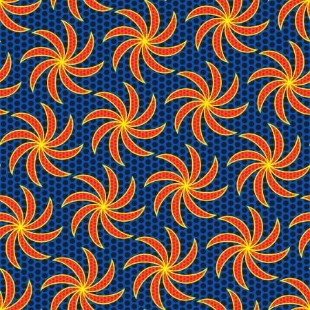 African Kitenge Pattern Illustration