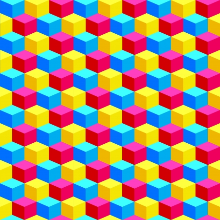 bacground: Colorful Cubes Bacground