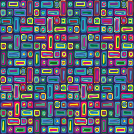 Brightly colored organic abstract pattern Illustration