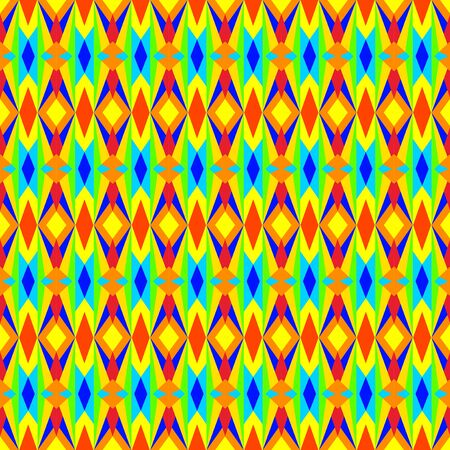 nineties: Multicolored Geometric Pattern
