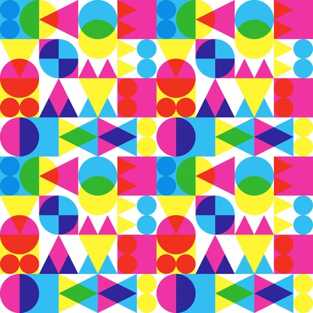 Retro Transparent Shapes Background Vector
