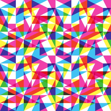Color Triangles Trend Pattern Stock Vector - 20949170