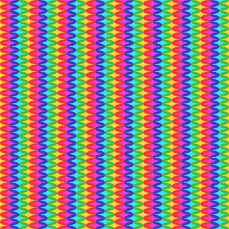 Rainbow Sixties Stripes Pattern