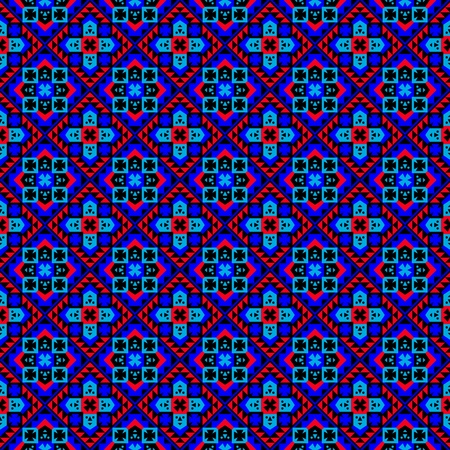 Playful Ethnic Pattern Vector
