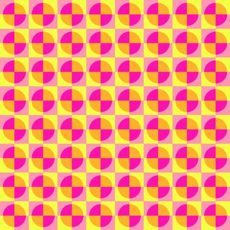 Colorful Minimal Retro Pattern Vector