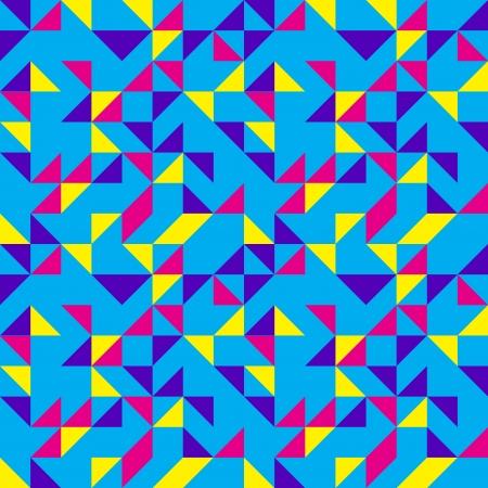 Blue Geometric Triangles Pattern Illustration