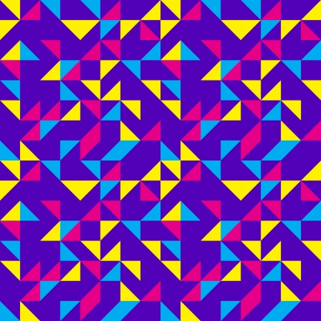 Purple Geometric Triangles Pattern Vector
